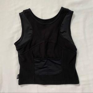 Nike black crop top activewear tank top